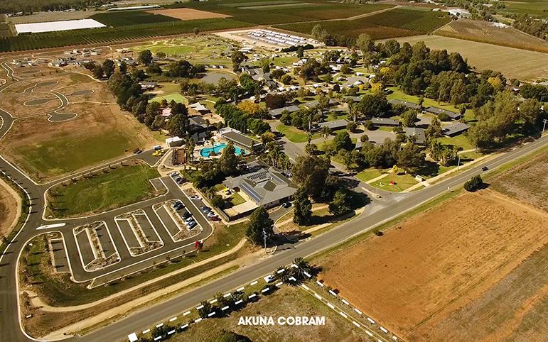 Aerial View Akuna Cobram