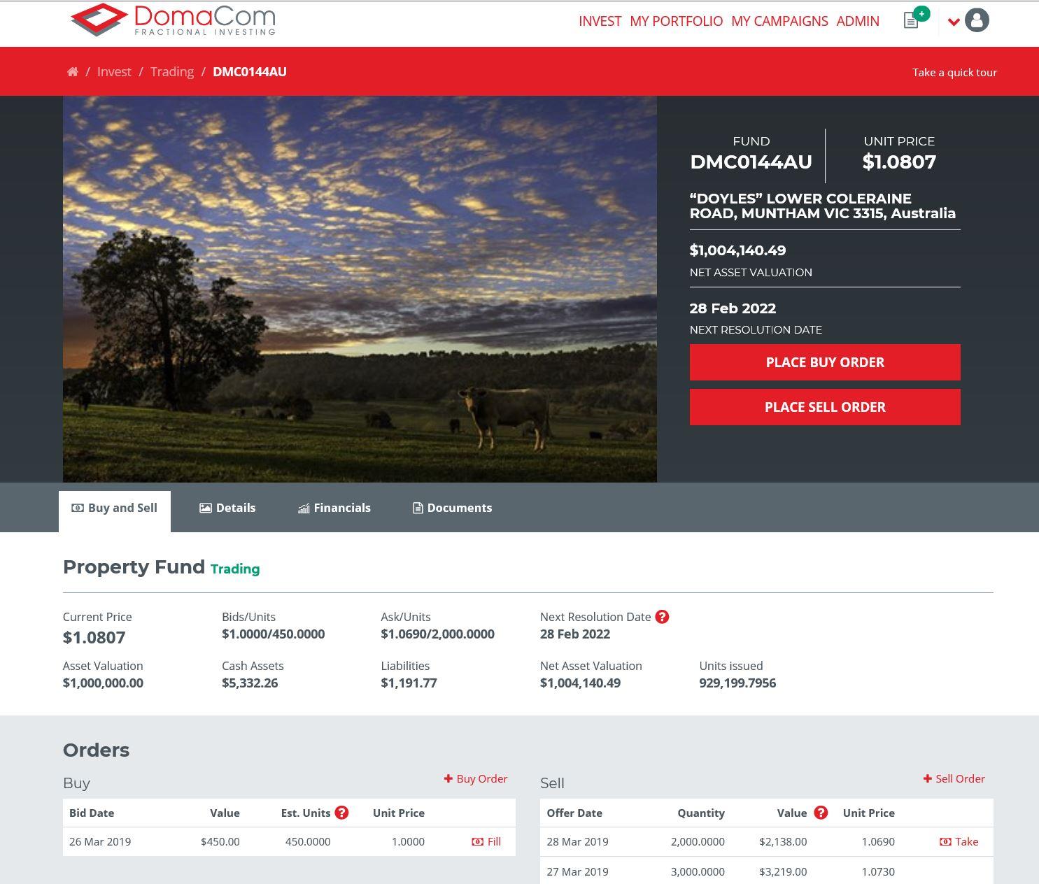 DomaCom Platform Screenshot